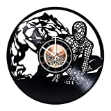 Cheap choma Spiderman Marvel Comics Vinyl Record Wall Clock – Living room wall decor – Gift ideas for boys and girls, teens – Film Unique Art Design