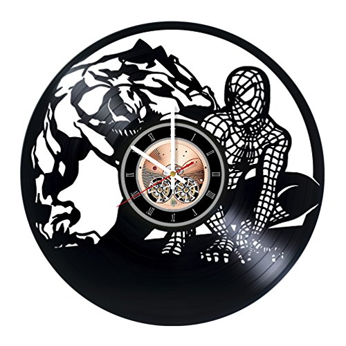 choma Spiderman Marvel Comics Vinyl Record Wall Clock - Living room wall decor - Gift ideas for boys and girls, teens - Film Unique Art Design
