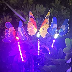 Butterfly Solar Lawn Light – 3Pack, Solar Energy Outdoor Garden Light, Garden Light Outdoor Decoration, Outdoor Light…