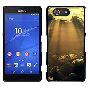 LECELL--Funda protectora / Cubierta / Piel For Sony Xperia Z3 Compact -- Sunshine Nubes Glow --