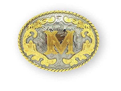 Unisex Adult Alphabet Letter Oval Western Belt Buckle