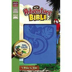 NKJV, Adventure Bible, Leathersoft, Blue, Full Color