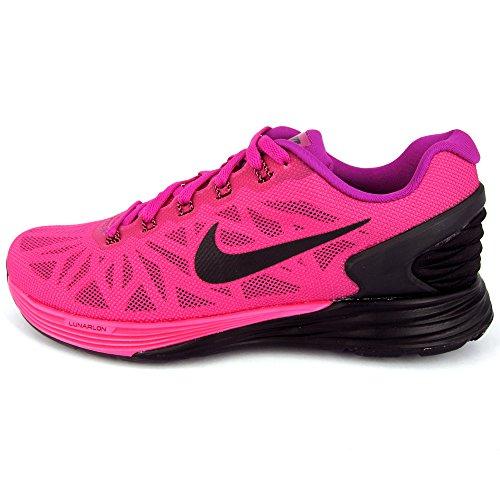 Nike Women's Wmns Lunarglide 6 , FUCHSIA FLASH/BLACK-PINK POW, 7.5 US