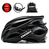 Kingbike Bike Helmet Men Women Bicycle Adult Cycling Specialized Road Mountain MTB Helmets For Mens Womens Adults Casco Para Bicicleta with Safety Light Portable Bag Accessories (Black) Review