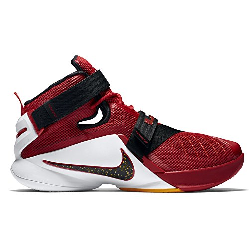 467e11c67ea6 free shipping Nike Lebron Soldier IX Cavs 9 Men Basketball Shoes New Red  White