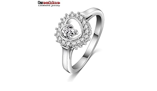 Gemmart Concise 7 Ring Jewelry Austrian Crystal rose gold engagement ring