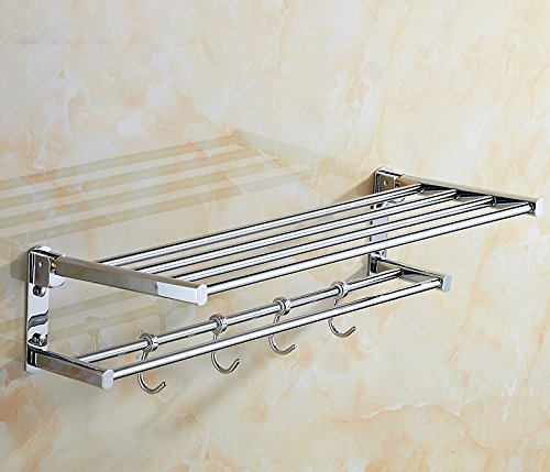 All copper thick bold double bath towel rack ,70CM Style 1