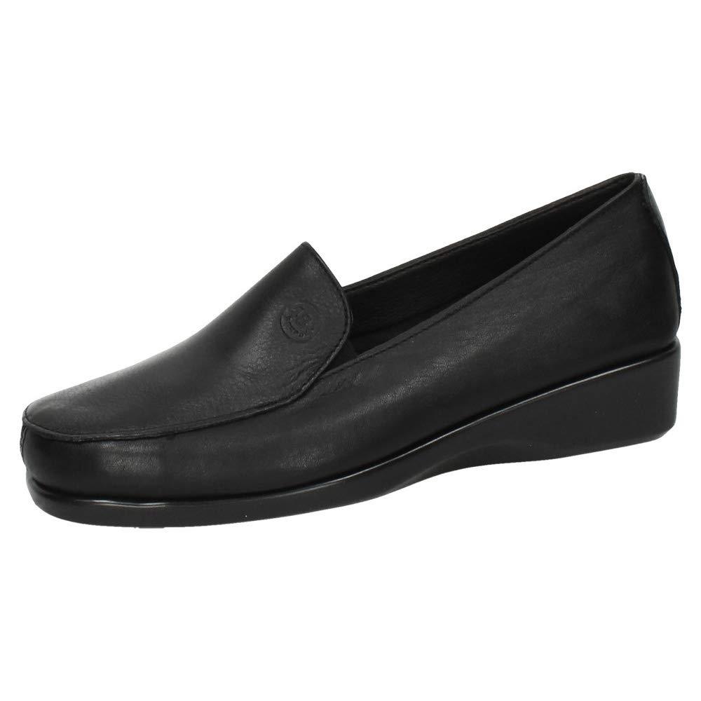 48 HORAS 820301/01 Mocasines DE Piel Mujer Zapatos MOCASÍN Negro 36: Amazon.es: Zapatos y complementos