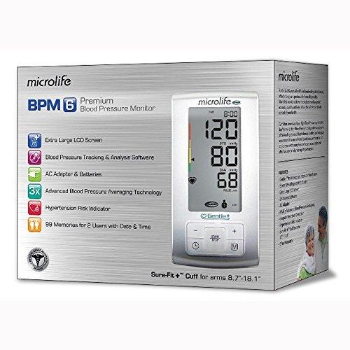 Microlife BP3GU1-8X Blood Pressure Monitor w/ XL LCD Screen