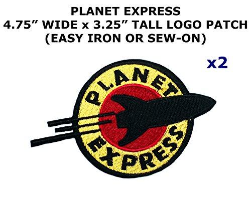 Diy Futurama Costumes (2 PCS Planet Express Futurama TV Show Theme DIY Iron / Sew-on Decorative Applique Patches)