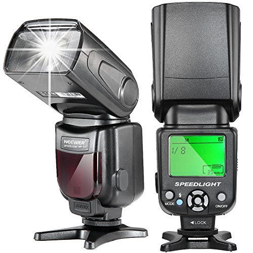 Neewer NW-561 LCD Display Speedlite Flash for Canon & Nikon DSLR Cameras Such as Canon EOS 1100D 550D 5D Mark II III and Nikon D7200 D7100 D7000 and Other DSLR Cameras with Standard Hot Shoeの商品画像