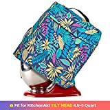 HOMEST Stand Mixer Cover Compatible with KitchenAid Tilt Head 4.5-5 Quart, Dust Cover with Zipper Pocket for Accessories, Floral