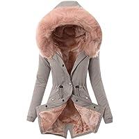 Mujer Invierno Abrigo Casual Sudadera con Capucha Algodón Chaqueta Larga Gruesa Cálida Rebajas Talla Grande Capa Jacket…