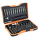 76 Pieces Socket Set and Ratchet Screwdriver Bits Safety Bits Bitbox, Multifunction Household Tool Kit Set with Box