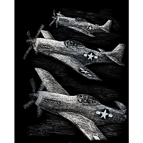 ROYAL BRUSH Silver Foil Engraving Art Kit, 8 by 10-Inch, Fighter Planes by ROYAL BRUSH