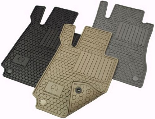Mercedes Benz Genuine OEM 2006-2011 CLS Class All Weather Rubber Floor Mats -BLACK by Mercedes Benz (Image #1)