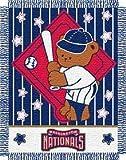 Washington Nationals 36x48 Woven Baby Throw Blanket - Licensed MLB Baseball Merchandise