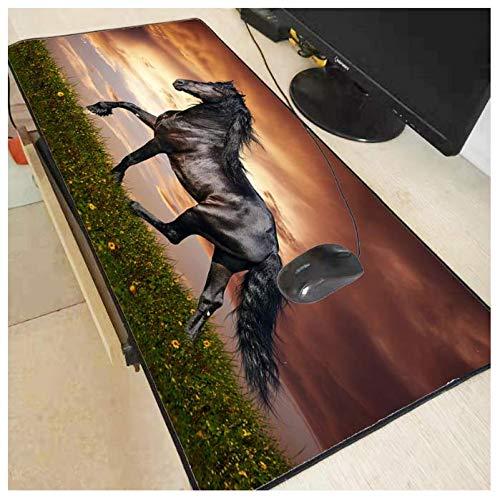 400 3mm Pferd tier spiel mauspad schloss wasserdicht gummi mauspad tastatur pad 900