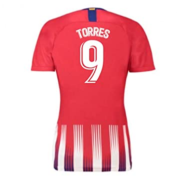 2018-2019 Atletico Madrid Home Nike Ladies Football Soccer T ...