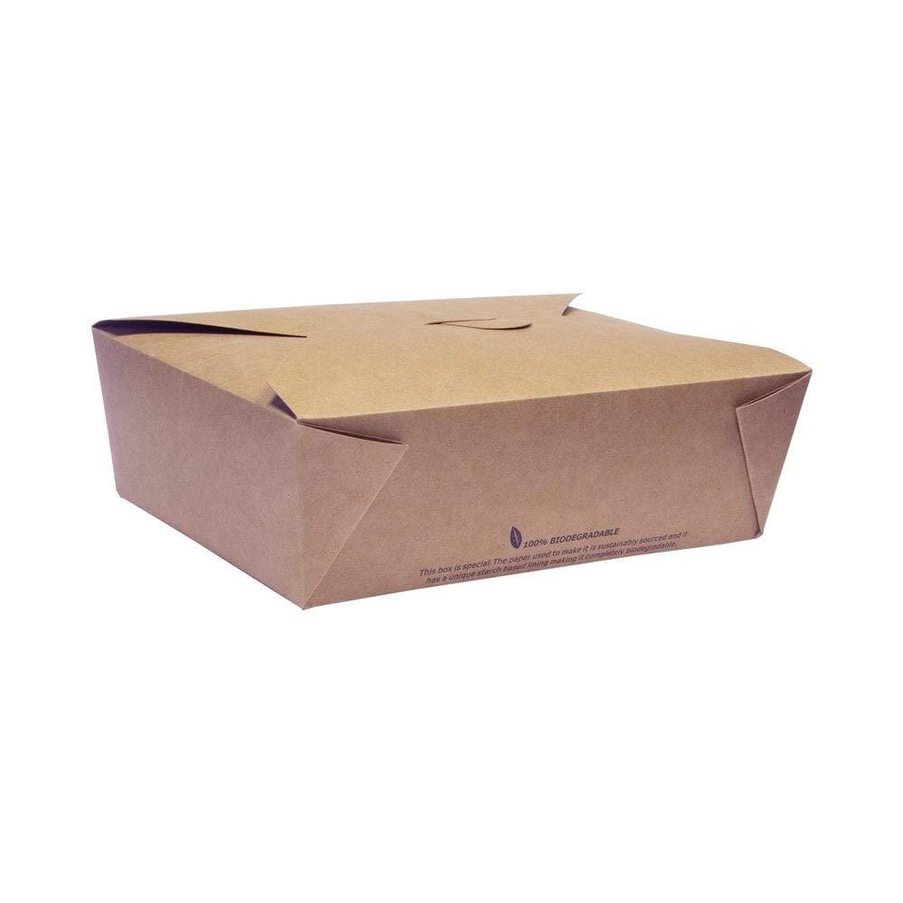 3 Takeaway Brown Box ECO VERSION, recipientes desechables para ensalada de hamburguesas, contenedor de cartón marrón, caja de comida biodegradable de papel compostable reciclable, caja ecológica (25): Amazon.es: Industria, empresas y ciencia