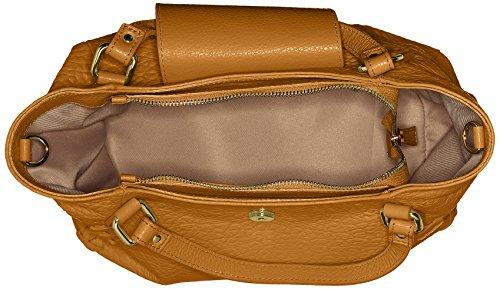 Chicca Borse Damen 8668 Henkeltasche, 32x23x15 cm Marrone (Tan)