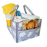 CozyCaddy Grey Elephant Diaper Caddy   Store Clothes, Teething Toys and Baby Stuff   Use Outdoors   Baby Shower Gift   14