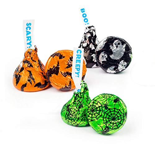 Halloween Candy Hershey's Kisses 2.25lb bag - Ghosts, Spiders and Bats Themed -