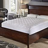 Rio Home Fashions Hotel Laundry Triple Protection Waterproof Mattress Pad with Stain Resistance, Anti-Bacterial and allergen proections - White Queen