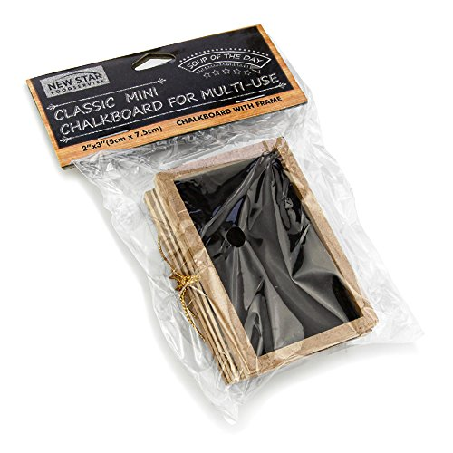 New Star 27907 Black Mini Chalkboards, 2 by 3-Inch, Set of 12