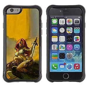 Paccase / Suave TPU GEL Caso Carcasa de Protección Funda para - red sword hero sexy redhead yellow - Apple Iphone 6 PLUS 5.5