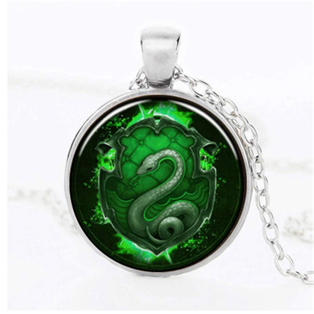 FLDC Cute Snake Long Chain Pendant Choker Necklace Set Jewelry