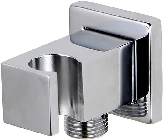 "Square Wall Outlet Handheld Bidet Shower Head Bracket Holder 1//2/""Elbow Connector"