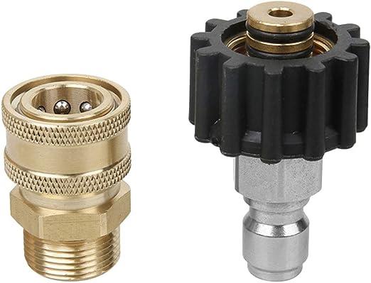 M22 raccordi tubi giardinaggio irrigazione connettore rapido ottone 3//8