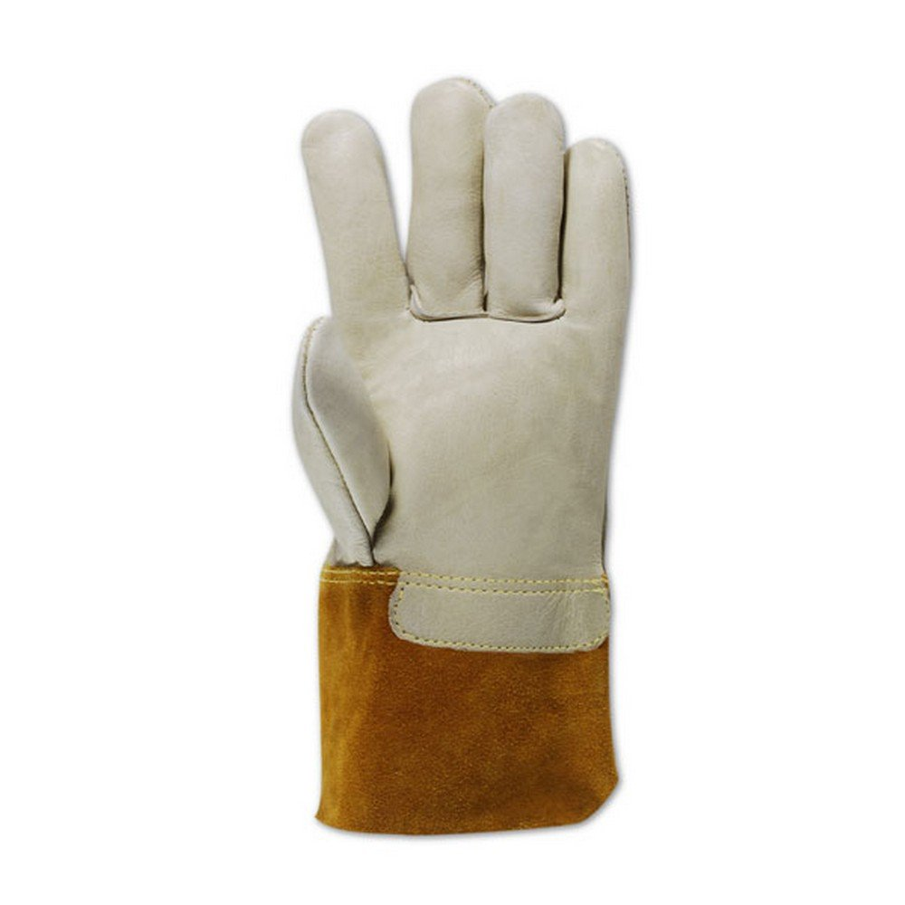 Magid Glove & Safety T6573GKEV-10 Magid DuraMaster T6573GKEV Unlined Standard Cow Grain Full Leather, 8, Tan , 10 (Pack of 12)