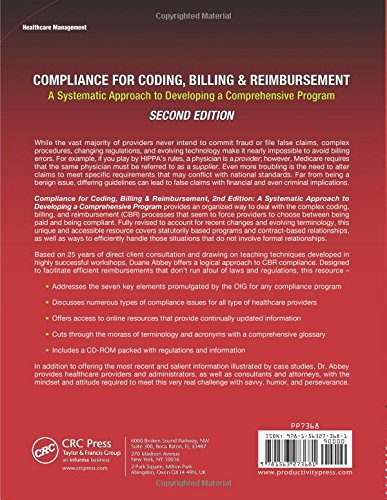 Compliance for Coding, Billing & Reimbursement, 2nd Edition: A Systematic Approach to Developing a Comprehensive Program