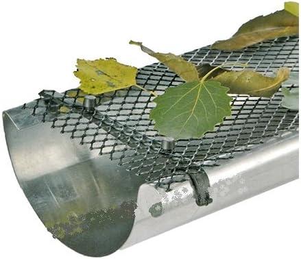 Red de protección para canalones rejilla 24 metros hojas Stop ...