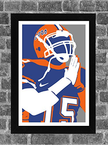 Tebow Gators Tim Florida - Florida Gators Tim Tebow Portrait Sports Print Art 11x17