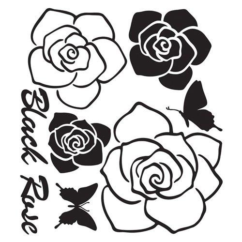 Reusable Decoration Wall Sticker Decal – Black Rose, Baby & Kids Zone