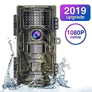 WiMiUS Wildlife Camera 20MP Native 1080P Trail Game Camera with Night Vision Detection Motion Activated Wildlife Hunting Camera with 0.2s Trigger Speed 2.0″ LCD IR LEDs