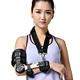 Adjustable elbow brace arm support stretched straight cerebral stroke Hemiplegia Correction elbow joint fixation brace limit correction orthosis tools arm extension fracture protector (Right Elbow)