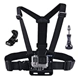 Smatree Adjustable Anti-skid Chest Belt Strap Harness Mount+ J-Hook Buckle Mount + Smatree Aluminum Thumbscrew with Nut for Gopro HD Hero4 - 3 - 2 - 1 and SJ4000 - SJ5000 Cameras