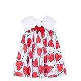 Catimini Bi-Material Printed Dress