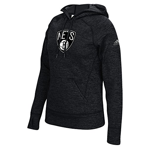 MLS Brooklyn Nets Women's Team Logo Fleece Pullover Hoodie, X-Large, Black