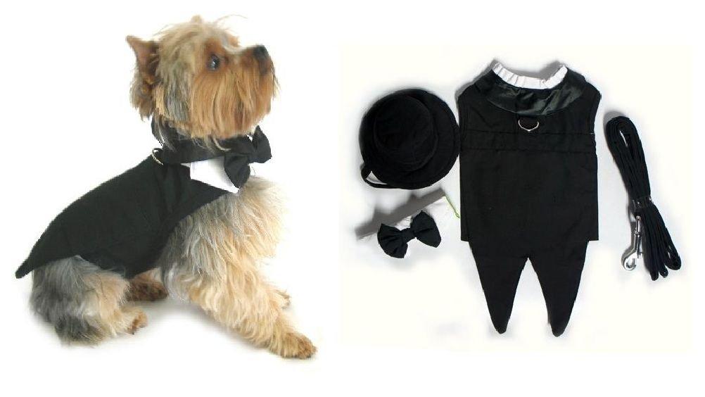 Elegant & Elite Wedding Groom Dog Tuxedo Dogs Formal Wear For Black Tie Weddings