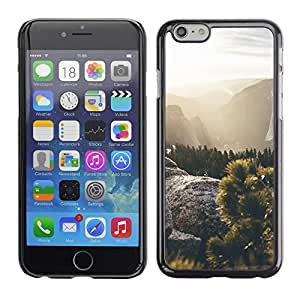 Soft Silicone Rubber Case Hard Cover Protective Accessory Compatible with Apple iPhone? 6 (4.7 Inch) - sun rays sunset mountains summer hike