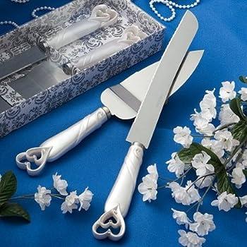 Amazon Com Personalized Wedding Cake Knife Server Set Engraved