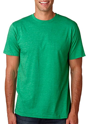 Anvil Men's Organic Preshrunk Ringspun Recycled T-Shirt, Hthr Green, Small