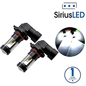 SiriusLED Projection DRL Fog Light LED Bulb Size 9006 HB4 Color 6000K White 30W Pack of 2