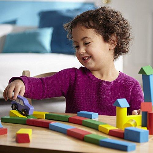 51pvbuWkLKL - Melissa & Doug Wooden Building Blocks Set - 100 Blocks in 4 Colors and 9 Shapes