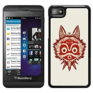Beautiful Designed Cover Case For Blackberry Z10 With princess mononoke 1 Black Phone Case